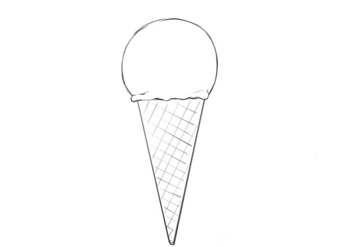 Easy Ice Cream Coloring Pages