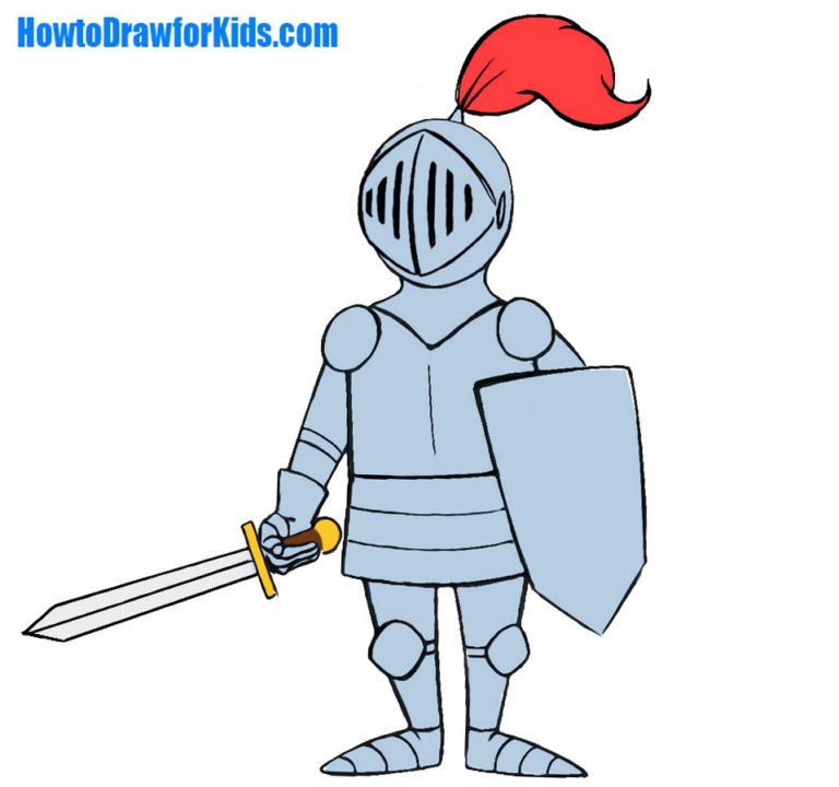 Easy Knight Coloring Page