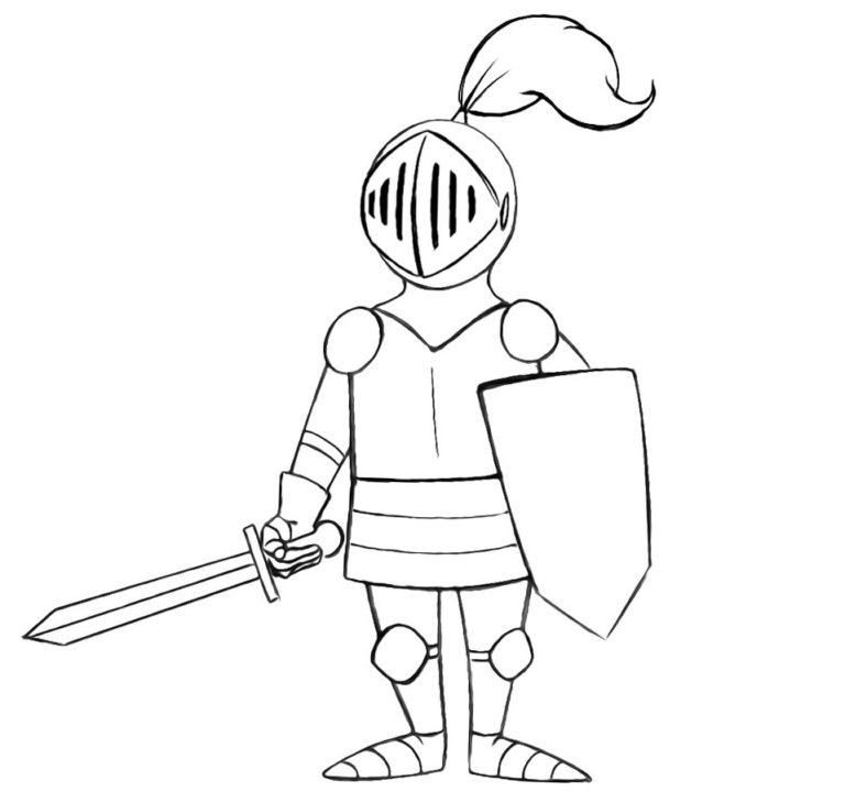 Easy Knight Coloring Pages