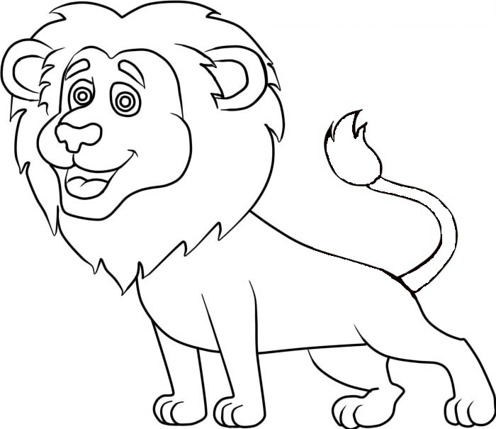 Easy Lion Coloring Pages
