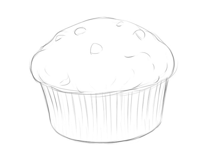 Easy Muffin Coloring Pages