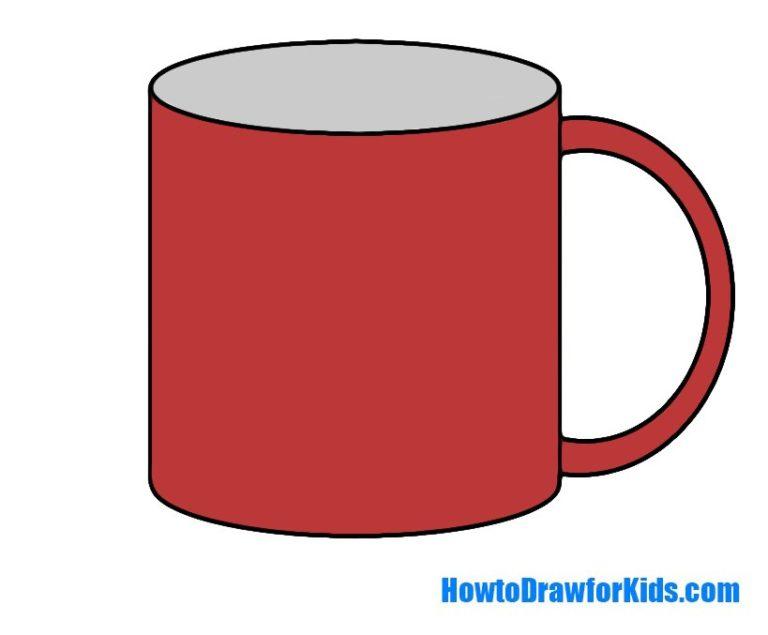 Easy Mug Coloring Page