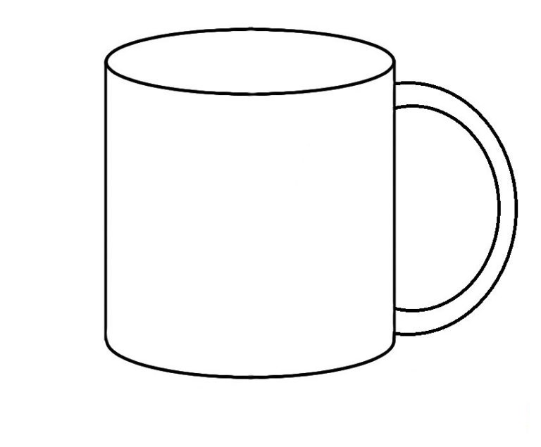 Easy Mug Coloring Pages