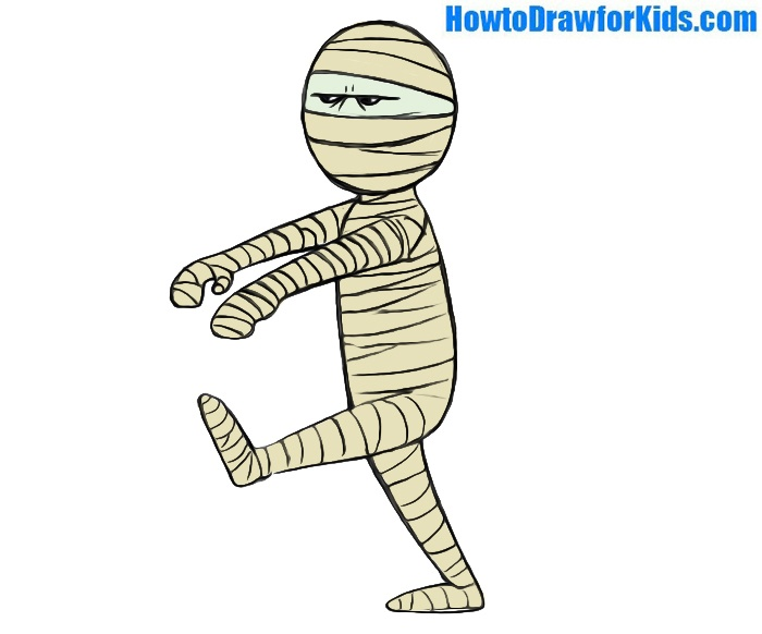 Easy Mummy Coloring Page
