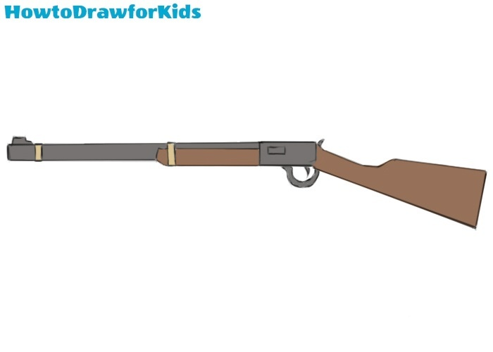 Easy Rifle Coloring Page