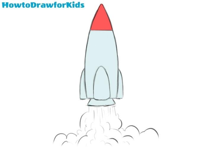 Easy Rocket Coloring Page
