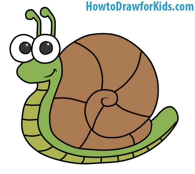 Easy Snail Coloring Page