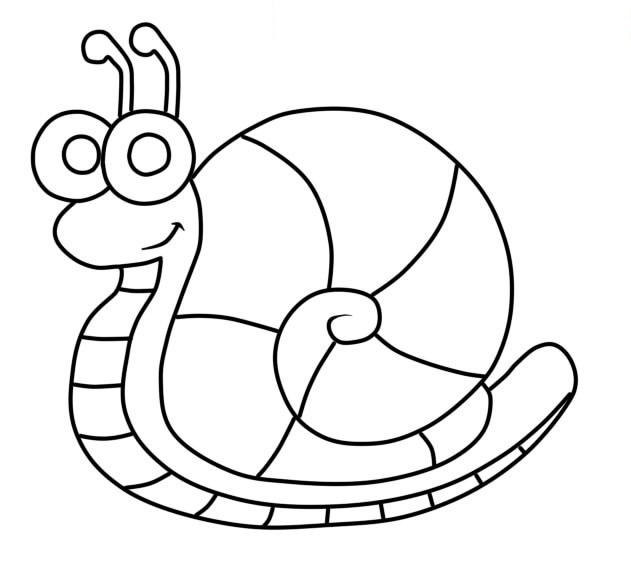 Easy Snail Coloring Pages