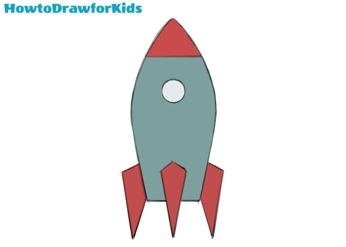 Easy Spaceship Coloring Page