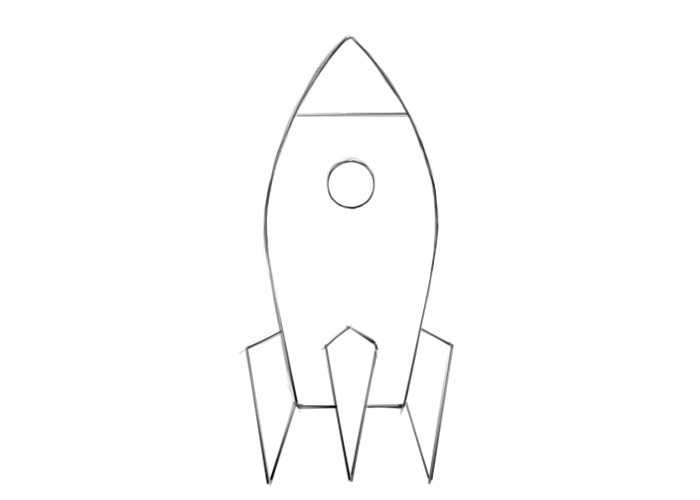 Easy Spaceship Coloring Pages