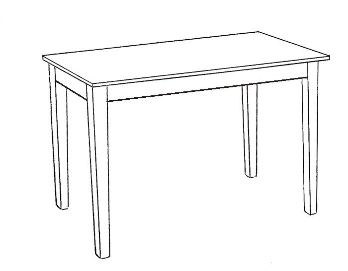 Easy Table Coloring Pages