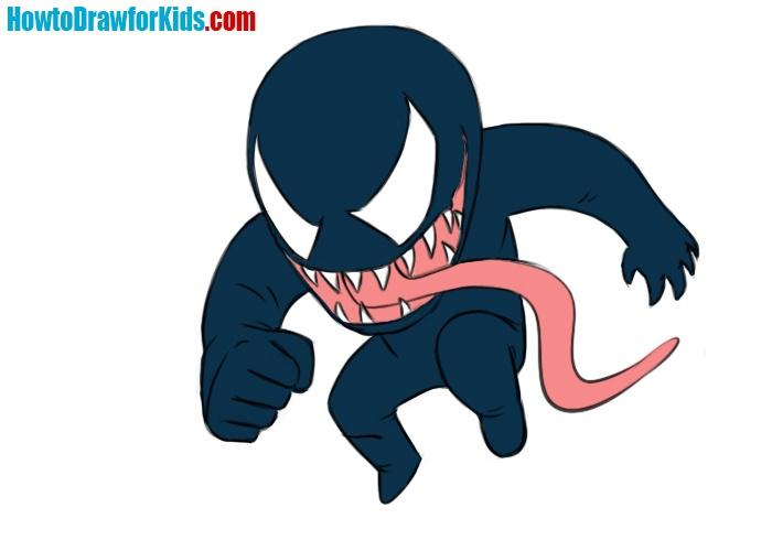 Easy Venom Coloring Page