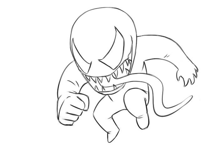 Easy Venom Coloring Pages