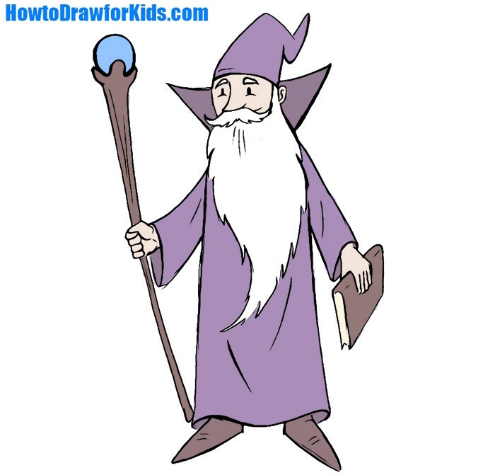 Easy Wizard Coloring Page