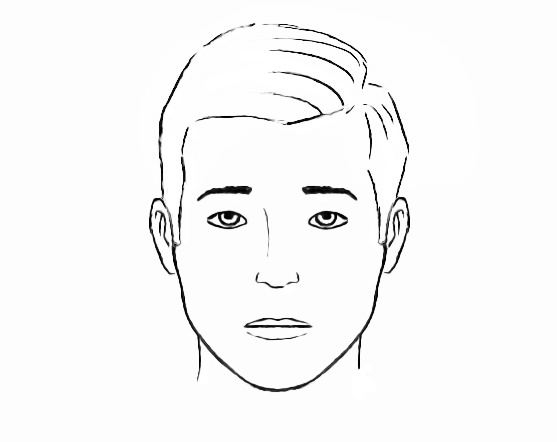 Easy face coloring page