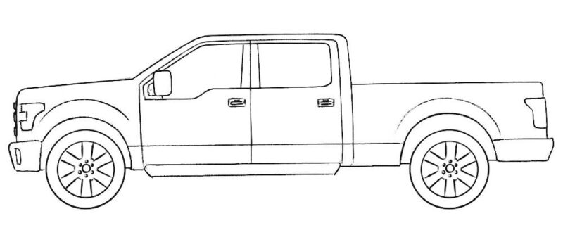 Ford Truck Coloring Page