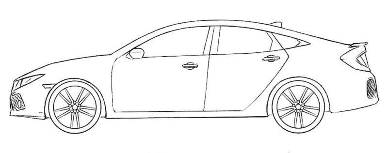 Honda Civic Coloring Page