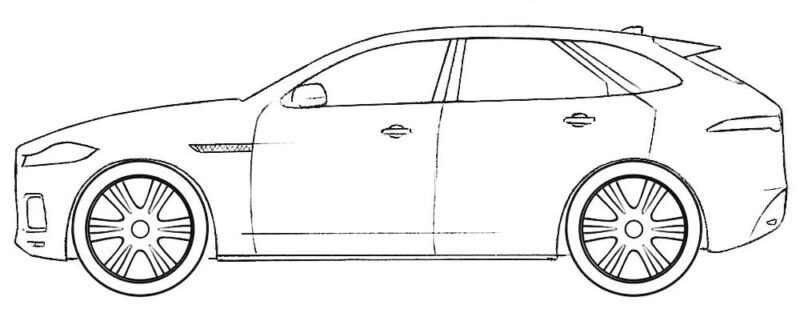 Jaguar F-Pace Coloring Page
