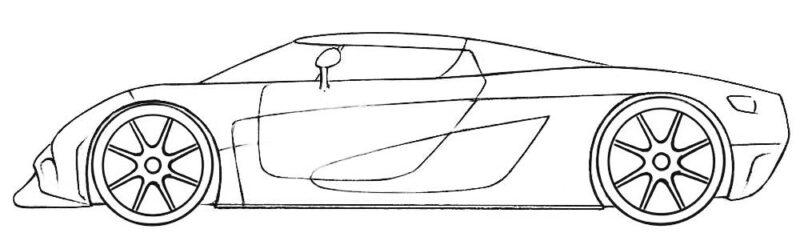 Koenigsegg Coloring Page