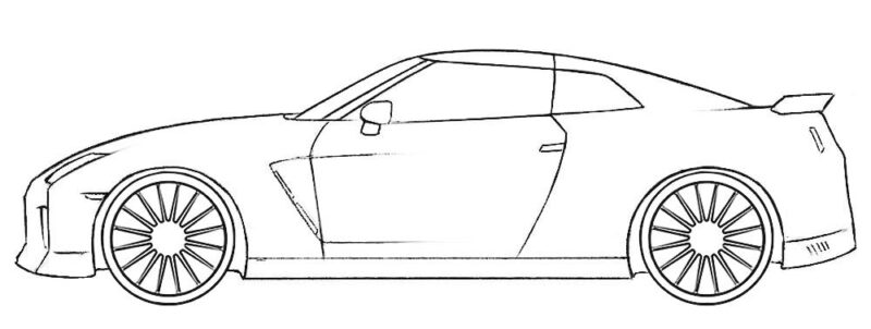 Nissan GT-R Coloring Page