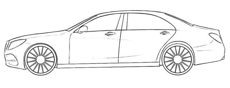 Realistic Car Coloring Page