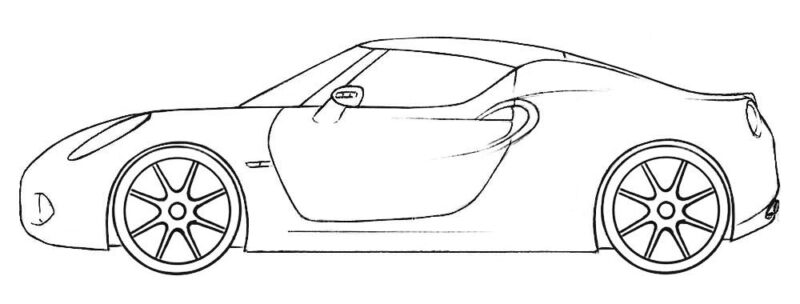 Roadster Coloring Page