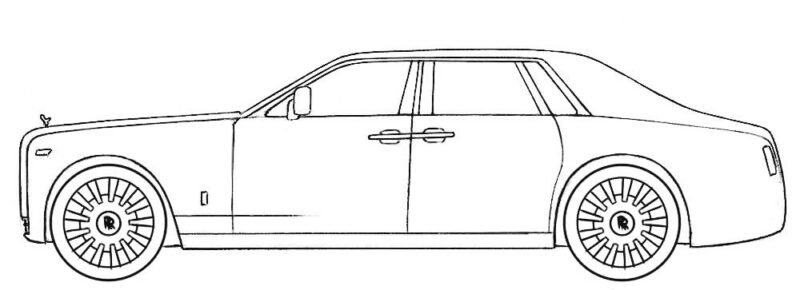 Rolls Royce Coloring Page