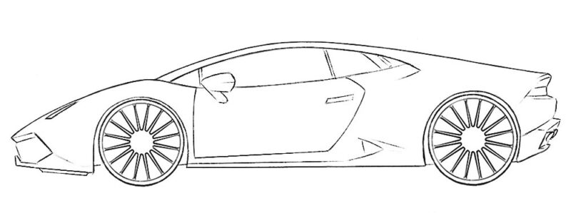 Supercar Coloring Page