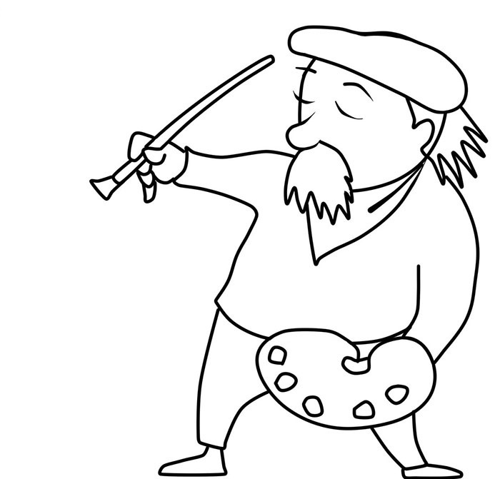 easy artist coloring pages