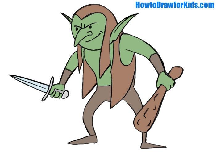 easy goblin coloring page