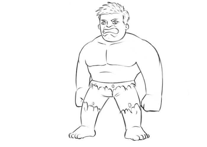 Easy Hulk Coloring Pages
