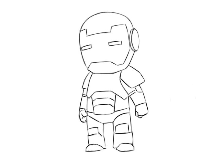 Easy Iron Man Coloring Pages