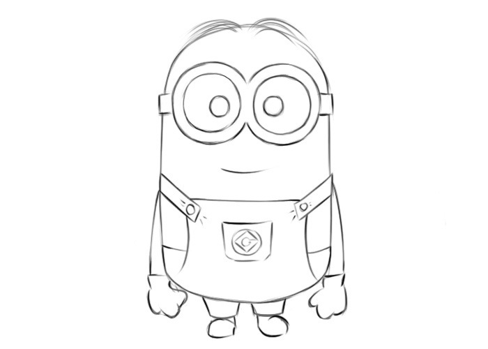 Easy Minion Coloring Pages