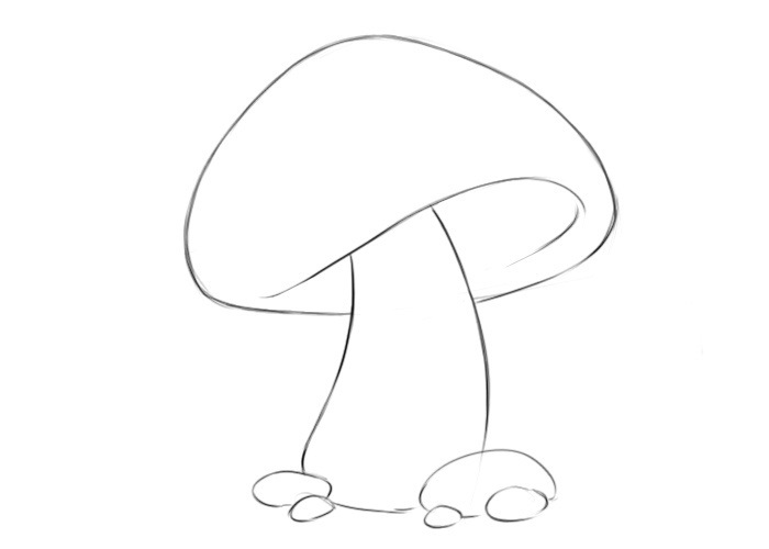 Easy Mushroom Coloring Pages