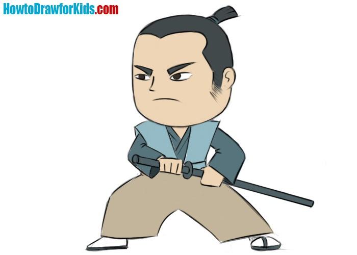 Easy Samurai Coloring Page