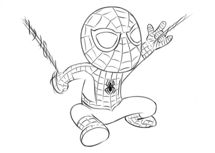 Easy Spider-Man Coloring Pages