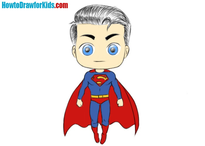 Easy Superman Coloring Page