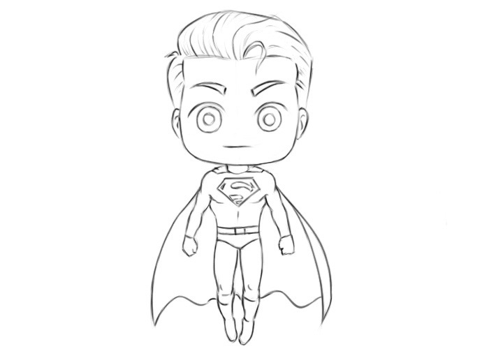 Easy Superman Coloring Pages
