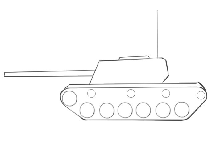Easy Tank Coloring Pages