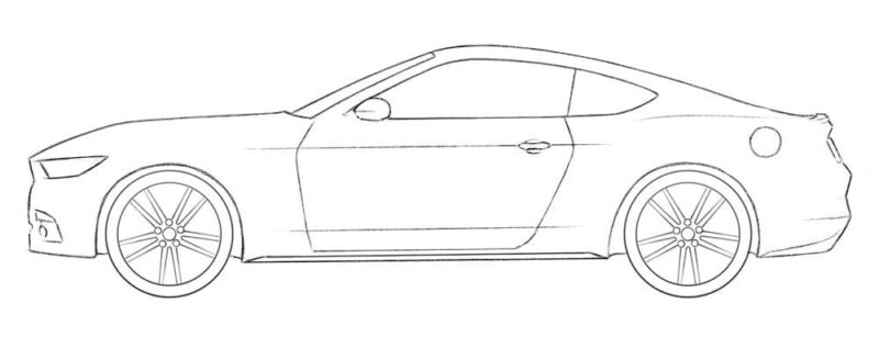 Ford Mustang Coloring Page easy