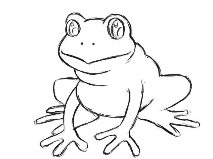 Coloring book page for kids. Frog princess Sketch outline and ... | 524x700
