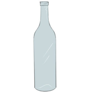 Bottle Coloring Page easy