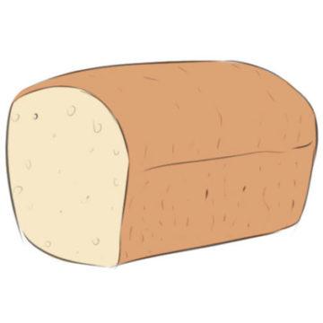 Bread Coloring Page printable