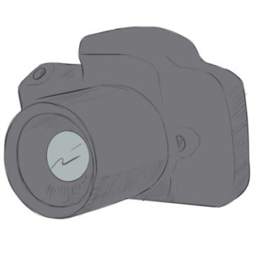 Camera Coloring Page easy