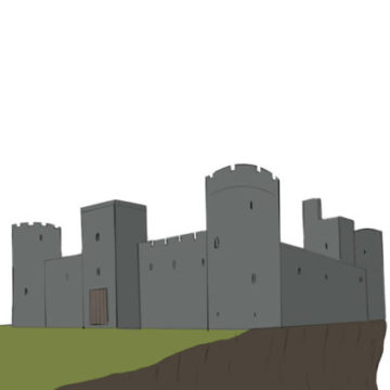 Castle Coloring Page easy