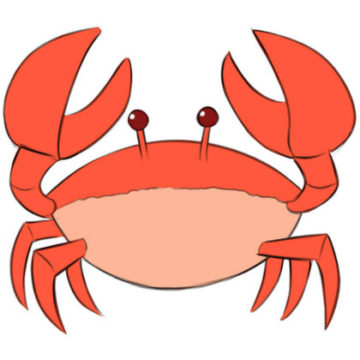 Crab coloring page printable