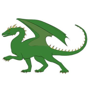 Dragon Coloring Page Easy