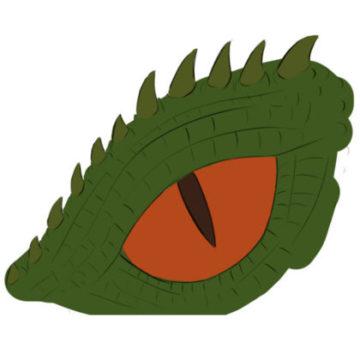 Dragon Eye Coloring Page printable
