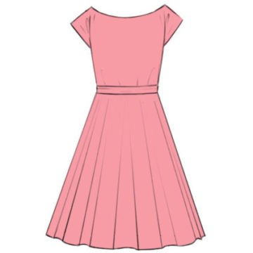 Dress Coloring Page easy