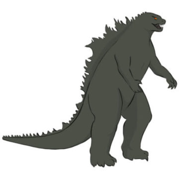 Godzilla Coloring Page easy